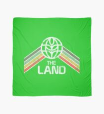 The Land Logo Distressed in Vintage Retro Style Scarf