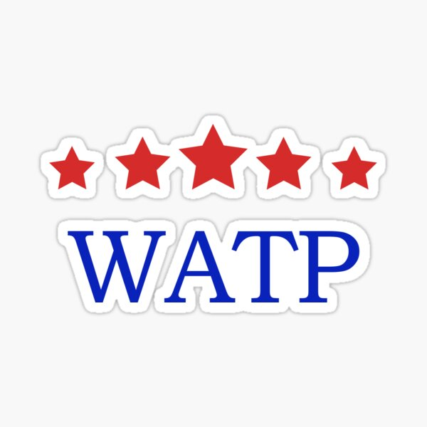 Rangers Watp Glasgow Mens Boys White Sticker