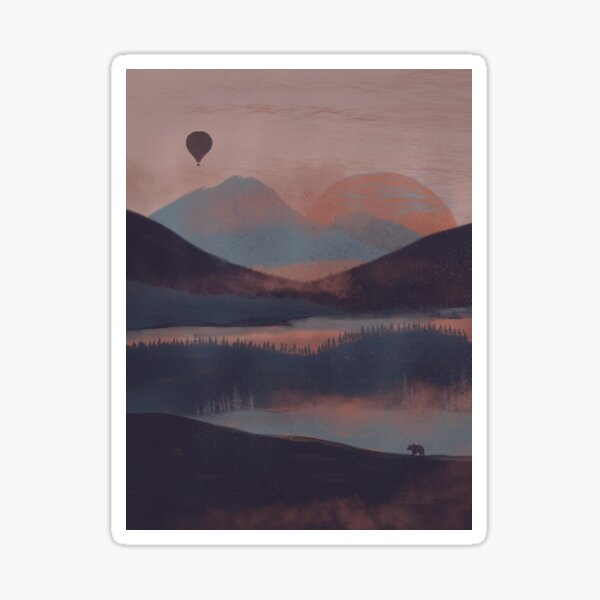 Adrift in the Mountains... Sticker