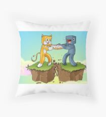 Stampy Vs Squid Throw Pillow