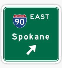Spokane, Road Sign, Washington Sticker