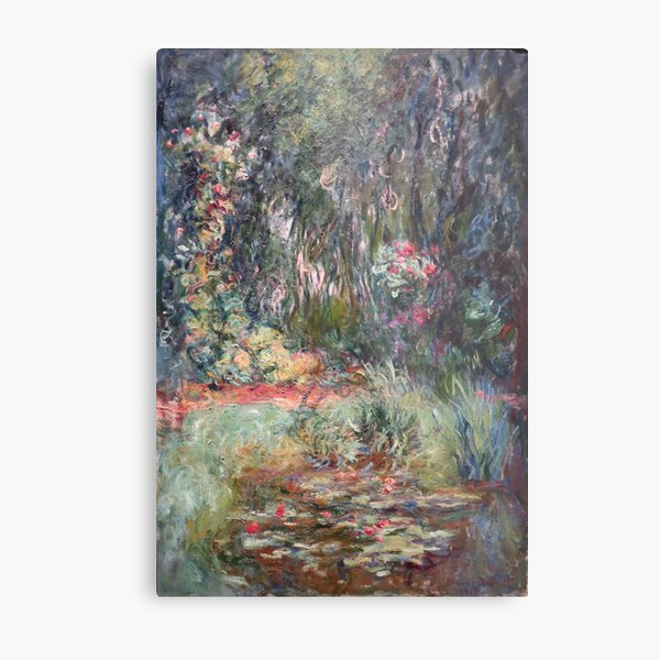 Corner of the Water Lily Pond, by Claude Monet Metal Print