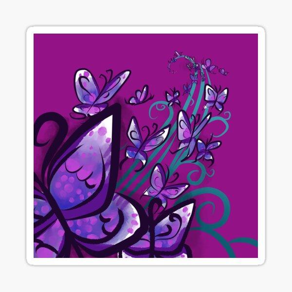 Butterfly Swirls Sticker