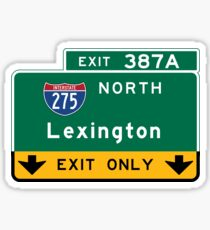 Lexington, Road Sign, Kentucky Sticker