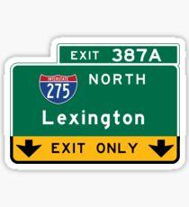 Lexington, Road Sign, Kentucky Sticker
