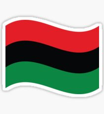 Red, Black & Green Flag Sticker