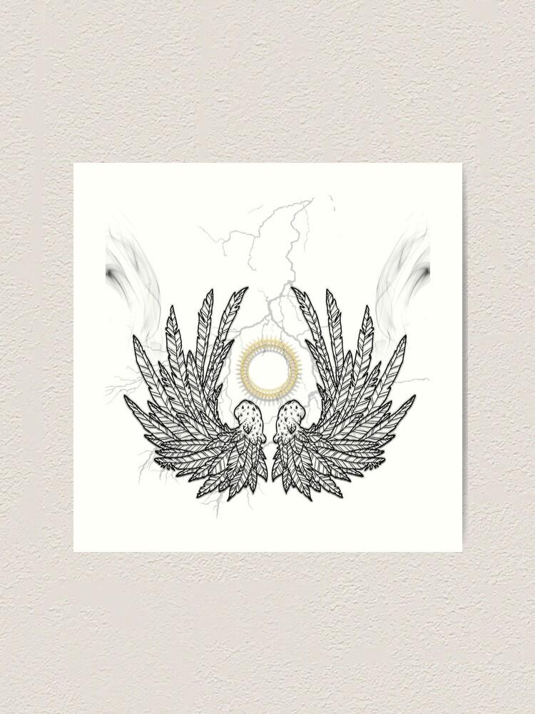 Alternate view of Smoking angel wings Art Print