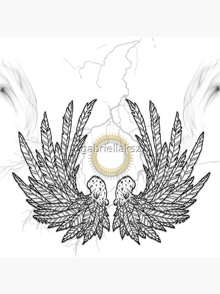 Smoking angel wings by gabriellaksz