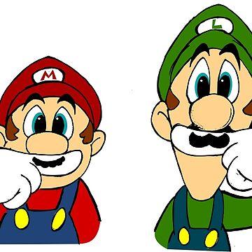 Hipster Mario Bros  by hypnoticcat