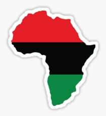 Red, Black & Green Africa Flag Sticker