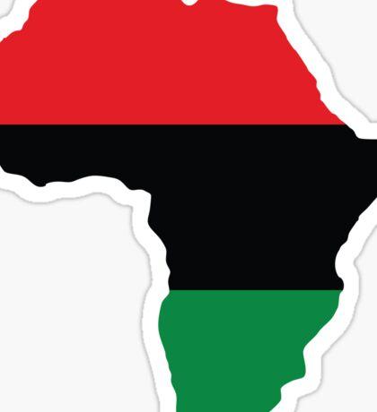 Red, Black & Green Africa Flag Sticker