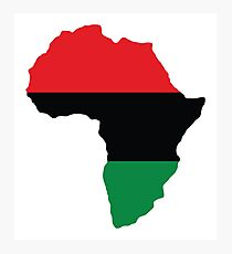 Red, Black & Green Africa Flag Photographic Print