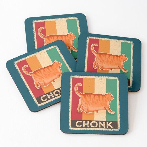 Chonk Cat Coasters (Set of 4)