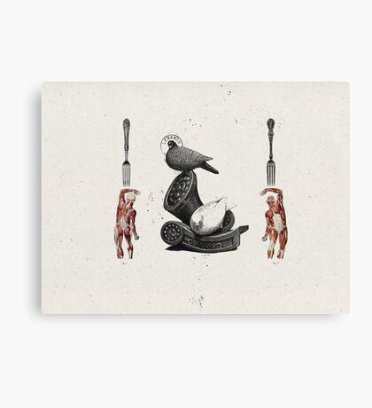 HOMBRES QUE DEVORAN HOMBRES (men devouring men) Canvas Print