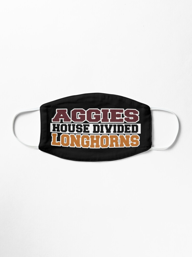 Alternate view of Aggies House Divided Longhorns Mask