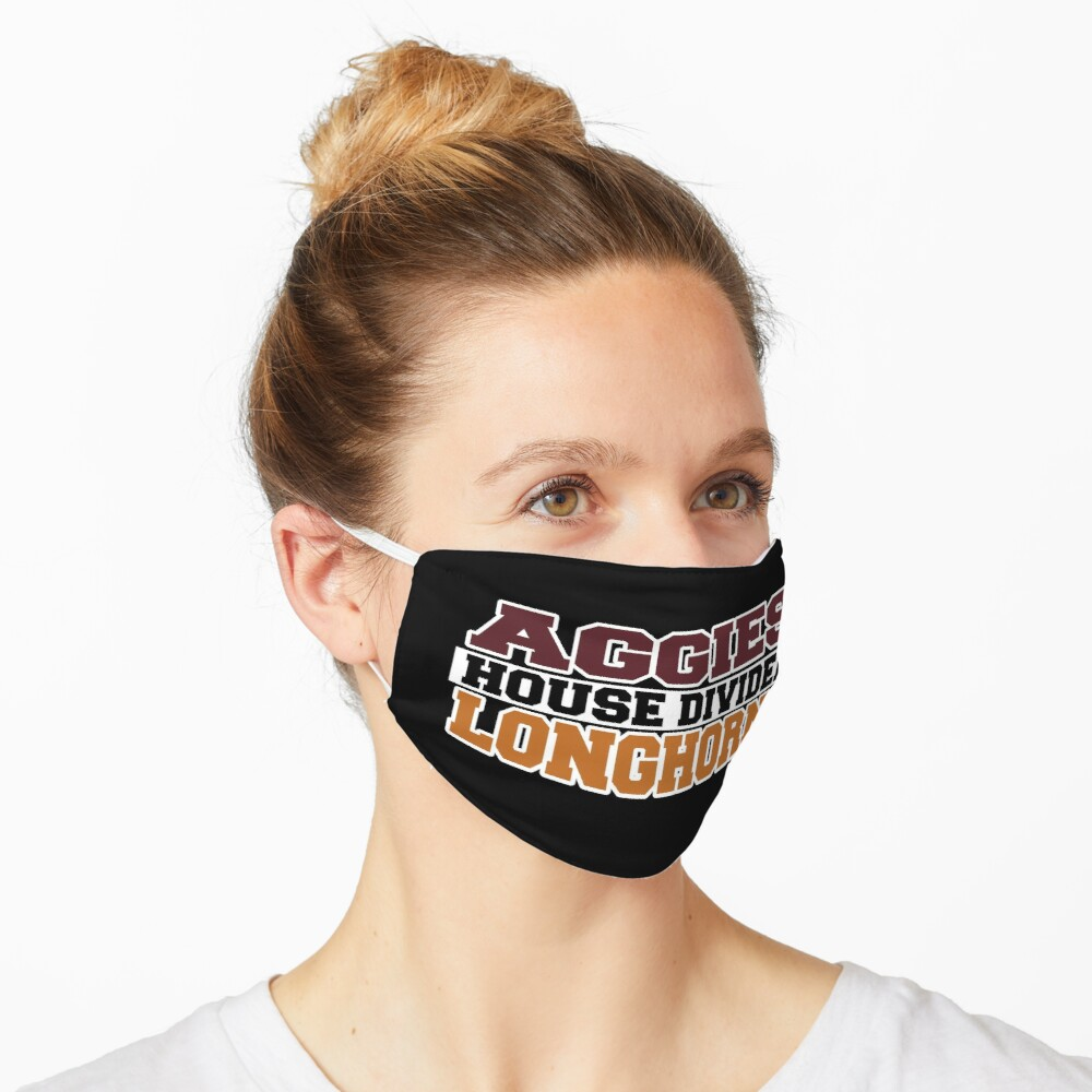 Aggies House Divided Longhorns Mask