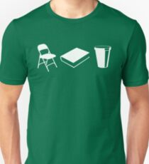 Folding chairs, books and coffee Unisex T-Shirt