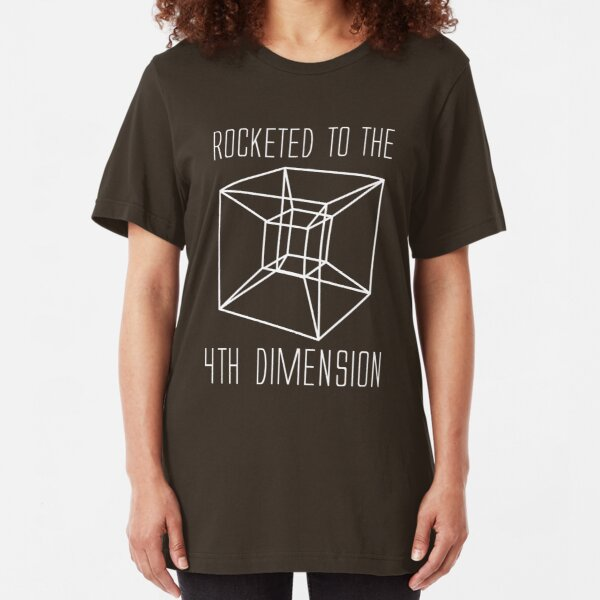 Rocketed to the fourth dimension Slim Fit T-Shirt