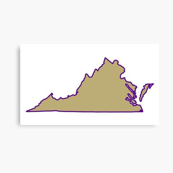 Virginia outline JMU Canvas Print