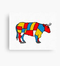 Mondrian Cow Canvas Print