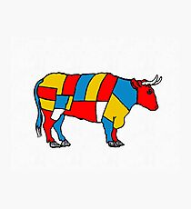 Mondrian Cow Photographic Print