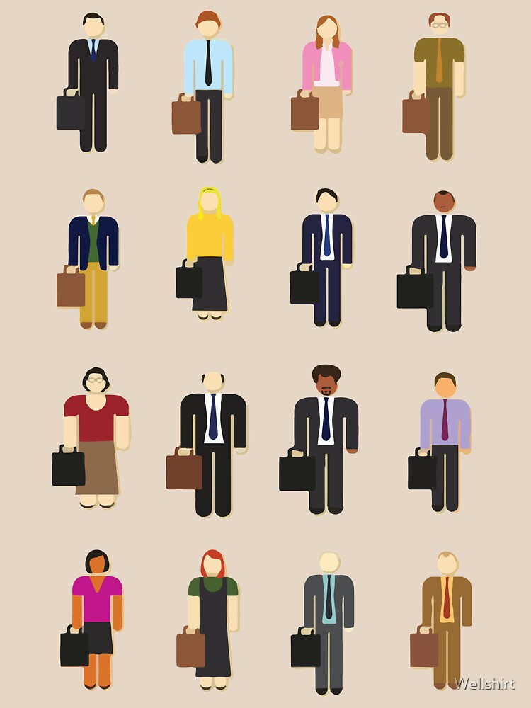 The Office: Characters by Wellshirt