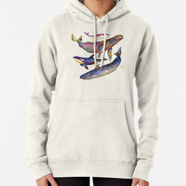 Four Whales Pyramid Pullover Hoodie