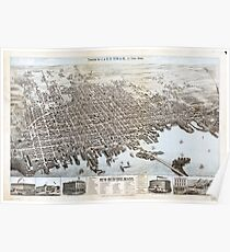 View of the City of New Bedford, Massachusetts (1876) Poster