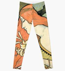 The Red-Haired Lady (Ermitage) art nouveau masterpiece Leggings