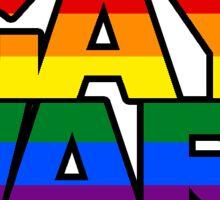 Gay Wars Sticker