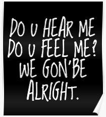 Póster Kendrick Lamar - Alright (white font)