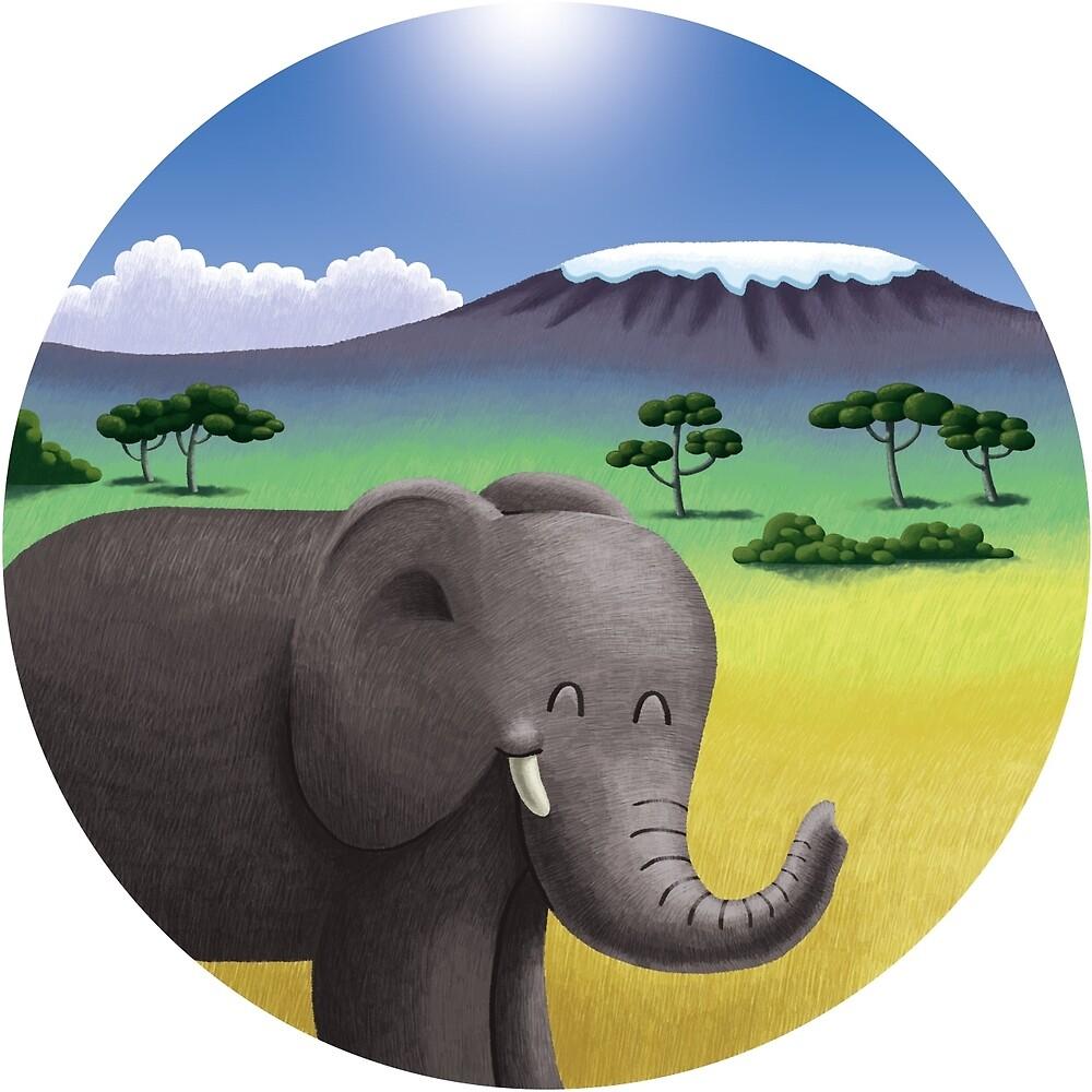Cute Elephant in Africa von skrich