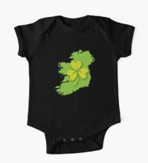 IRELAND map with a shamrock Kids Clothes