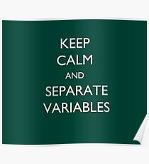 Calculus Keep Calm Message Poster