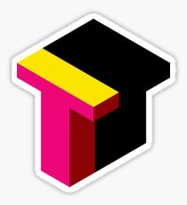 Letter T Isometric Graphic Sticker