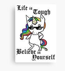 Tough Unicorn Canvas Print