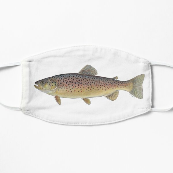 Brown Trout (Salmo trutta) Flat Mask