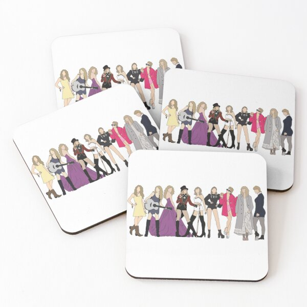 Taylor Swift eras incl evermore Coasters (Set of 4)