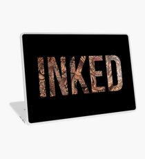 Inked - Tattoo Design - on black Laptop Skin