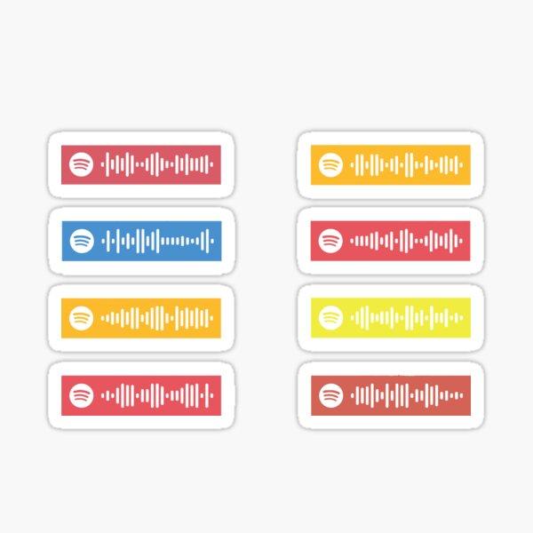 Bruno Mars top canciones códigos de Spotify Pegatina