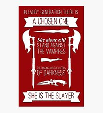 Buffy the Vampire Slayer - Chosen One Photographic Print