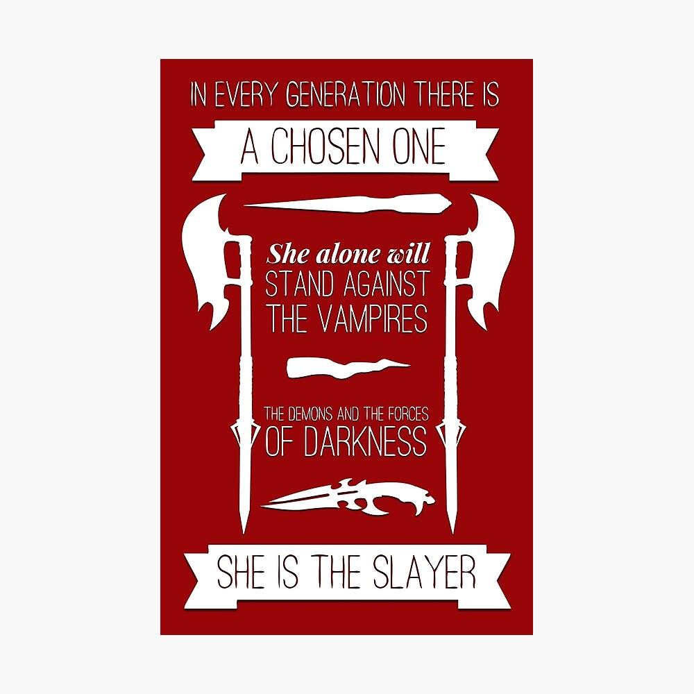 Buffy the Vampire Slayer - Chosen One Photographic Print