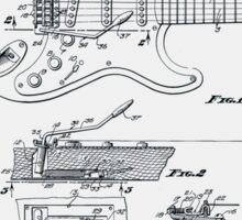 Fender Guitar Tremolo Patent 1956  Sticker