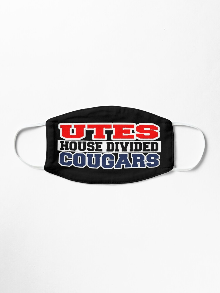 Alternate view of Utes House Divided Cougars Mask