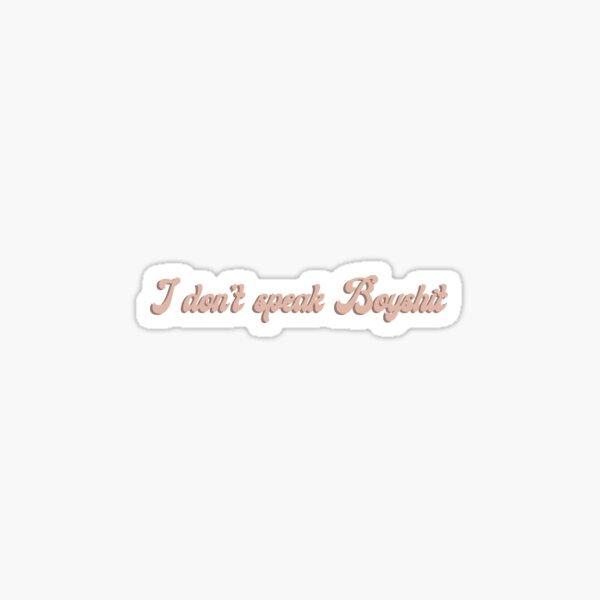 BOYSHIT Sticker
