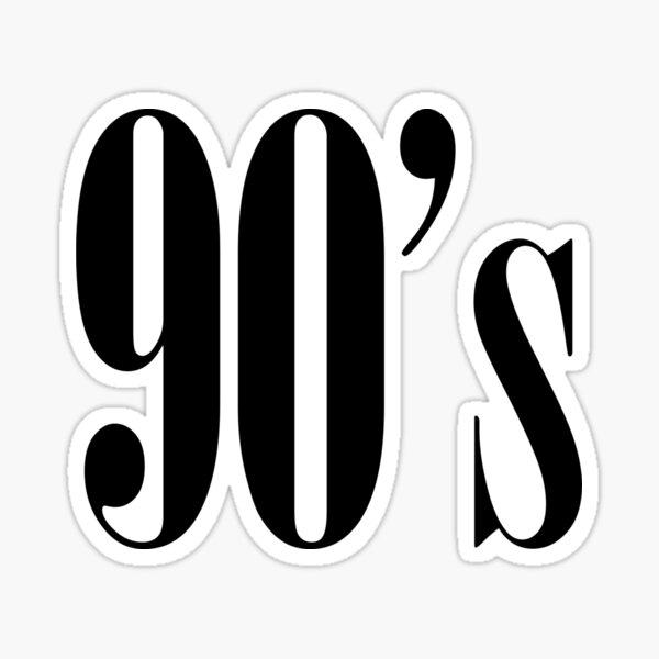 90s Pegatina