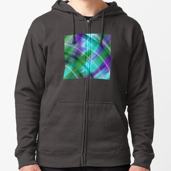Pieces of You Abstract Zipped Hoodie
