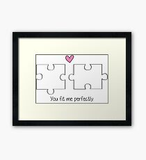 Puzzle Love Framed Print