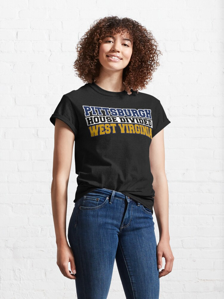 Alternate view of Pittsburgh House Divided West Virginia Classic T-Shirt