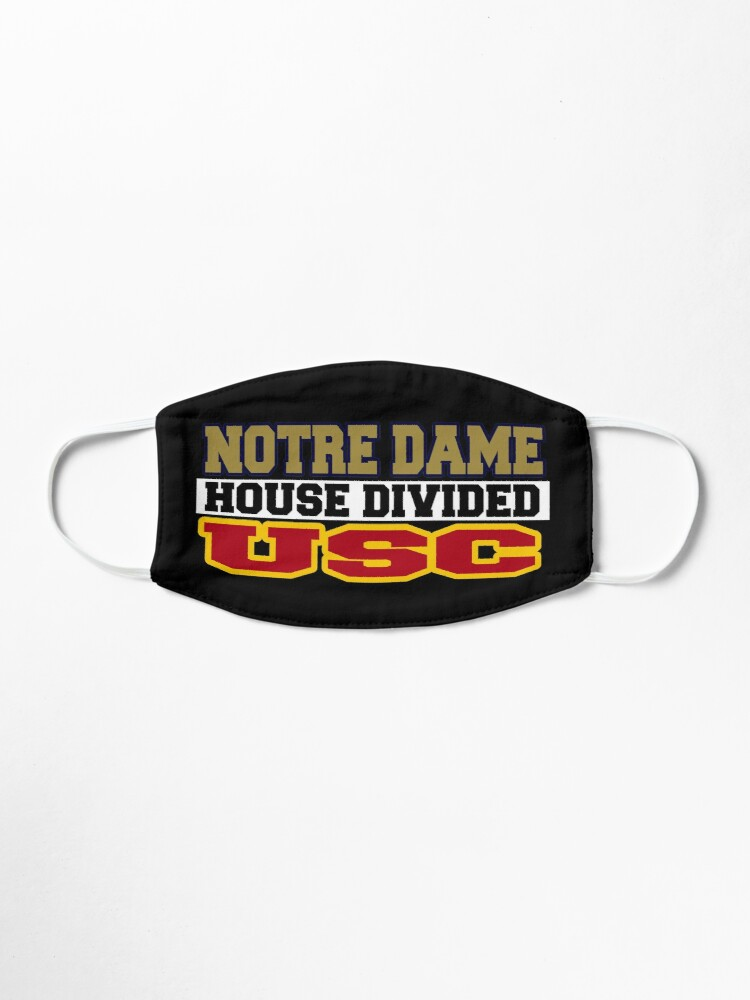 Alternate view of Notre Dame House Divided USC Mask